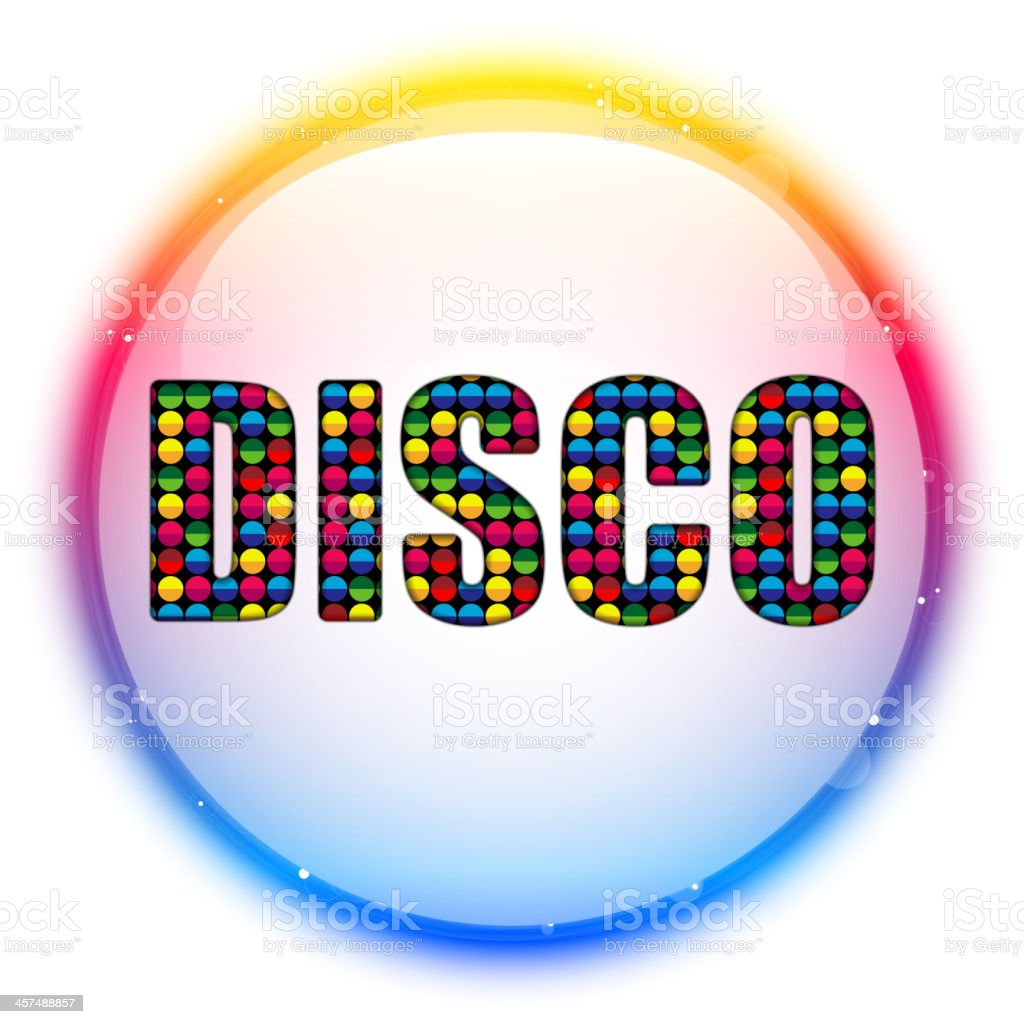 Glass Circle Color Disco Ball royalty-free stock vector art