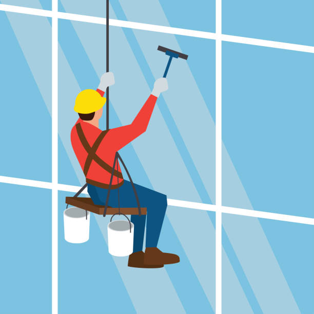 Best Window Cleaning Illustrations, Royalty-Free Vector ...