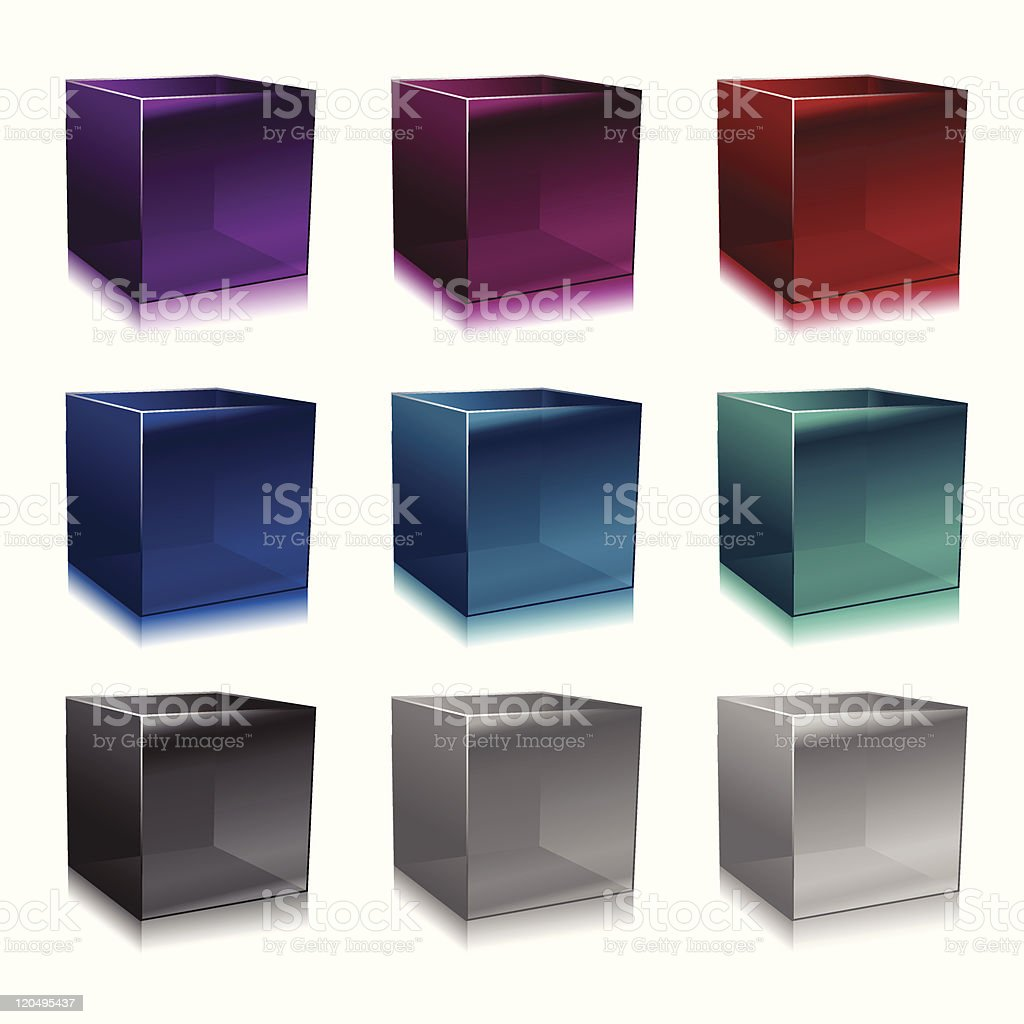 glass cubes royalty-free stock vector art