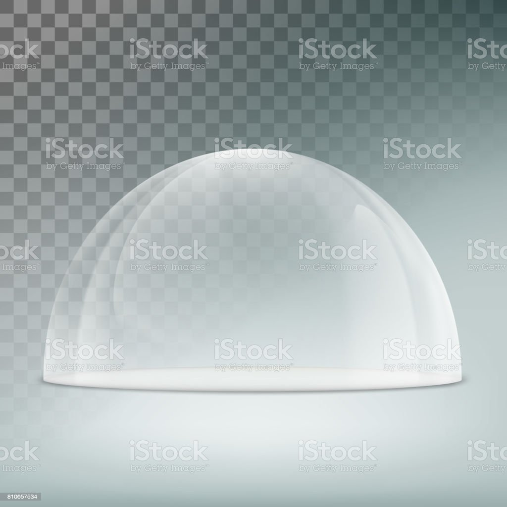 Glass dome on a transparent background vector art illustration