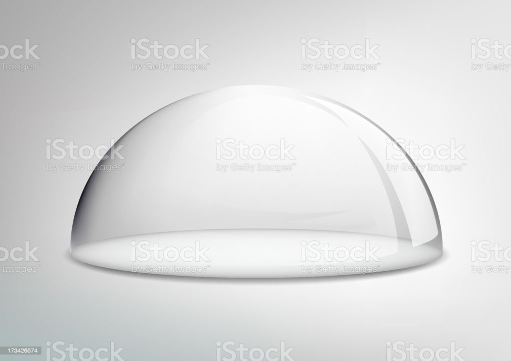 glass dome on a white background vector art illustration