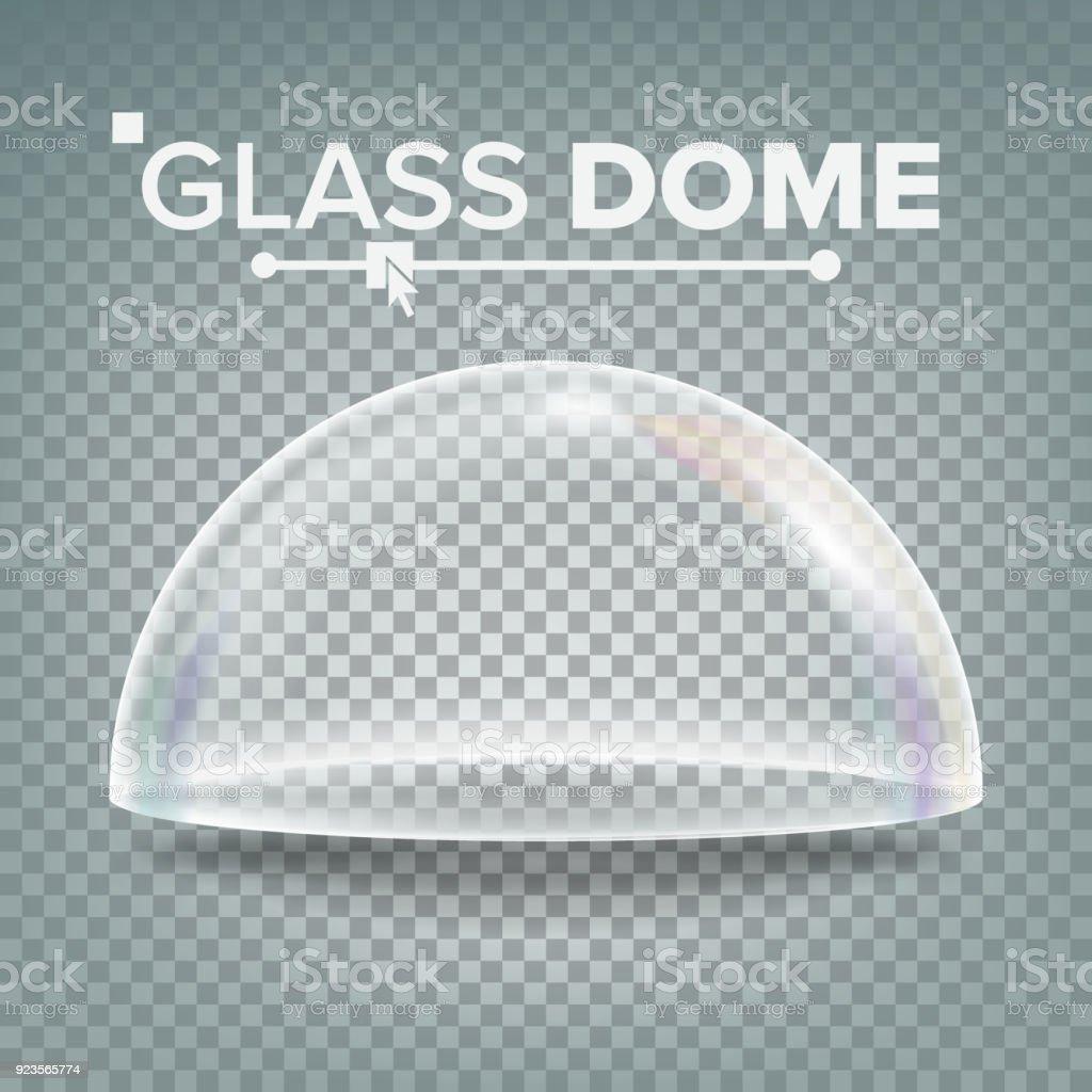 Oppdatert Glaskuppelvektor Ausstellungdesignelement Halbkugel Deckel Leeres JZ-06