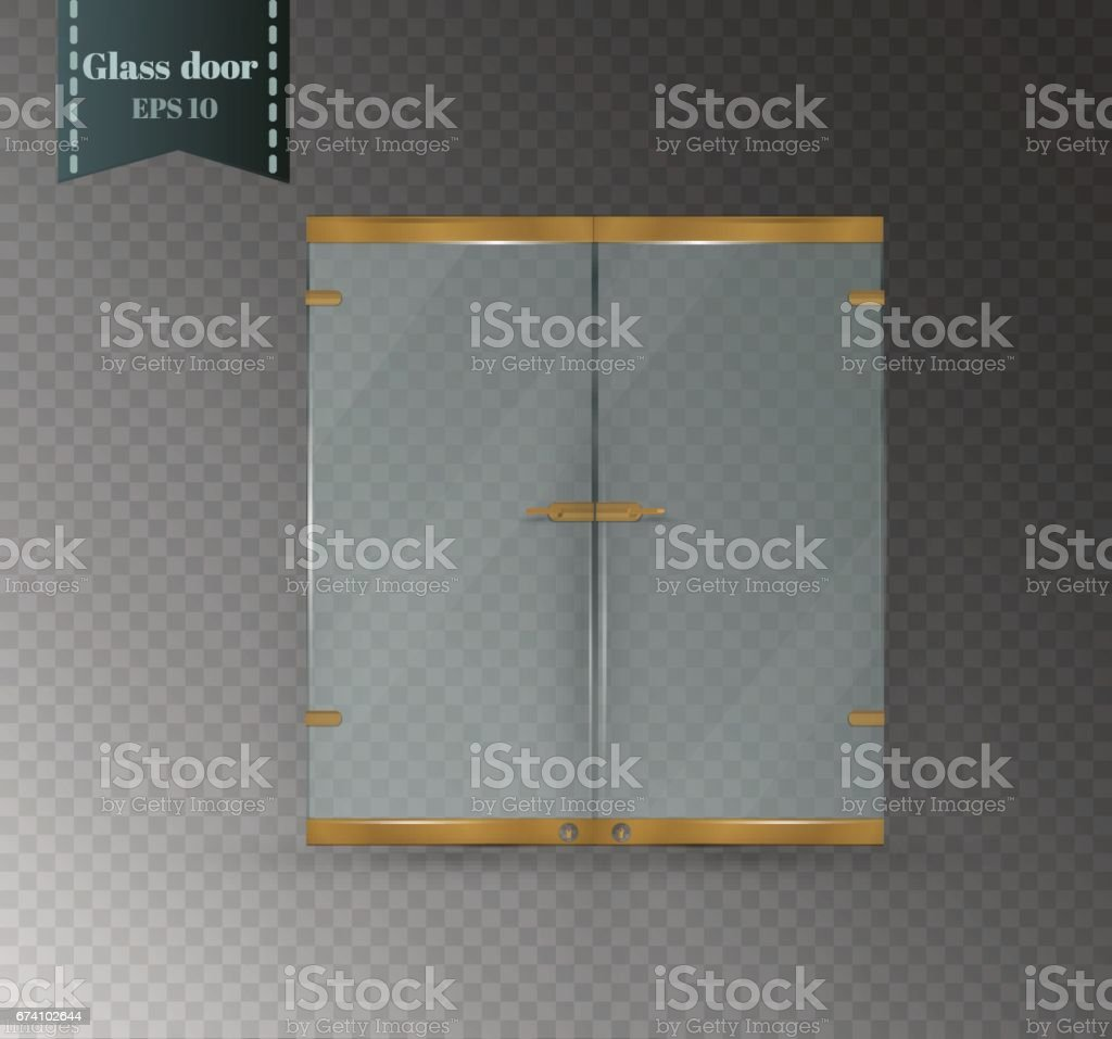 Glass door isolated on a transparent background. Vector illustration of a glossy office or boutique royalty-free glass door isolated on a transparent background vector illustration of a glossy office or boutique stock vector art & more images of architecture