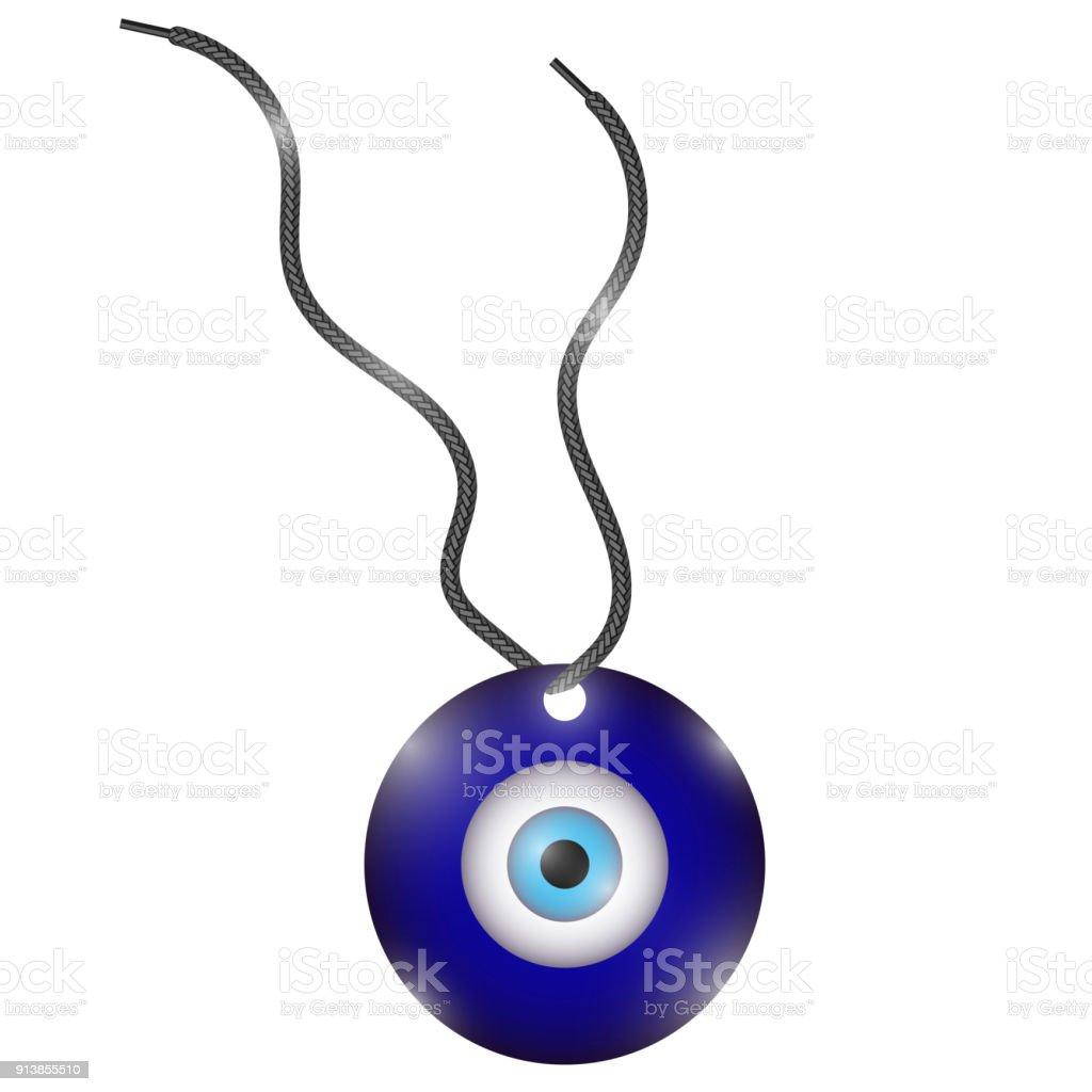 Simbolo azul com olho no meio