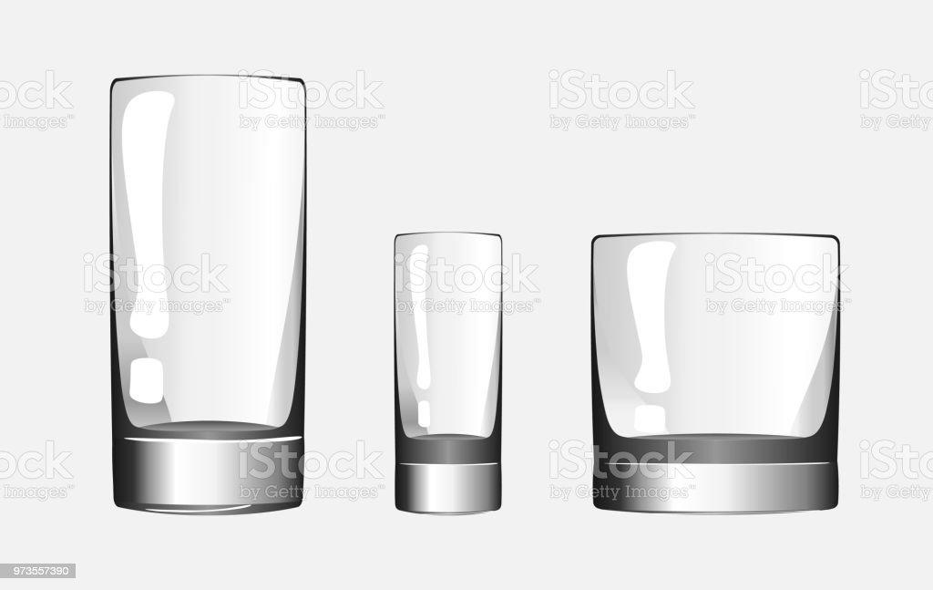 Glas Für Aufnahmen Glas Whiskey Und Glasschale Für Getränke Satz Von ...