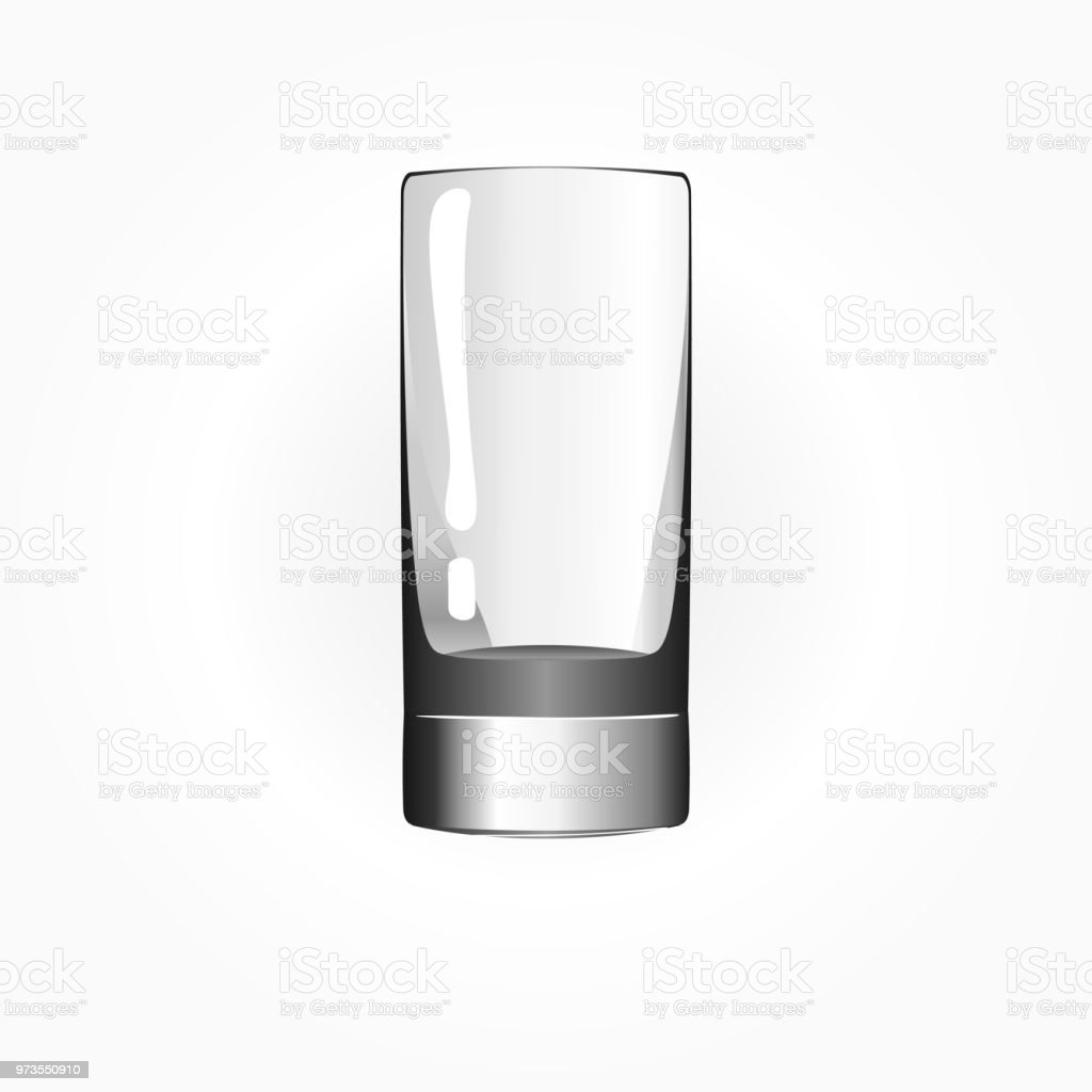 Glass for tequila. Shot glass, solated on white background. Vector illustration. vector art illustration
