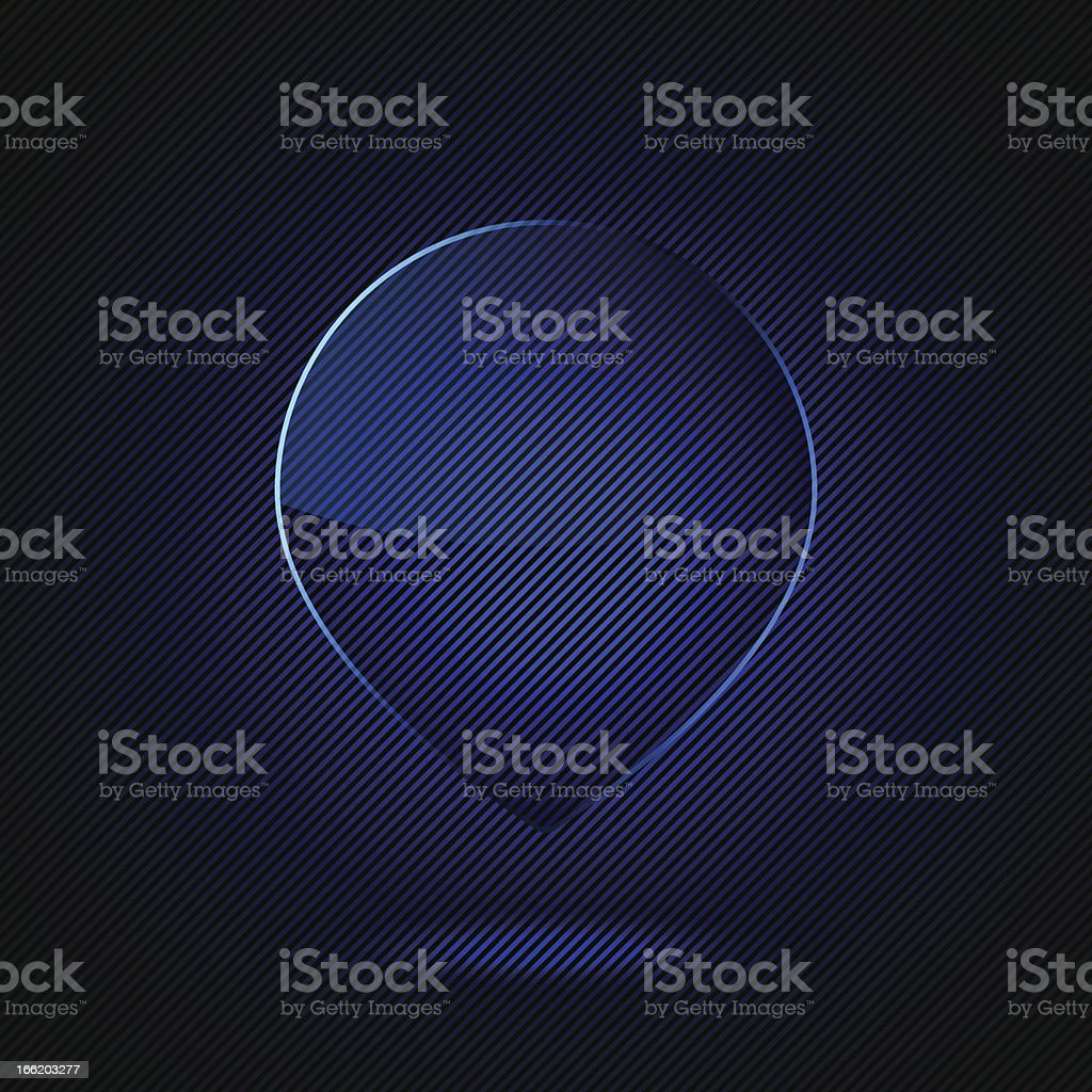Glass frame royalty-free stock vector art