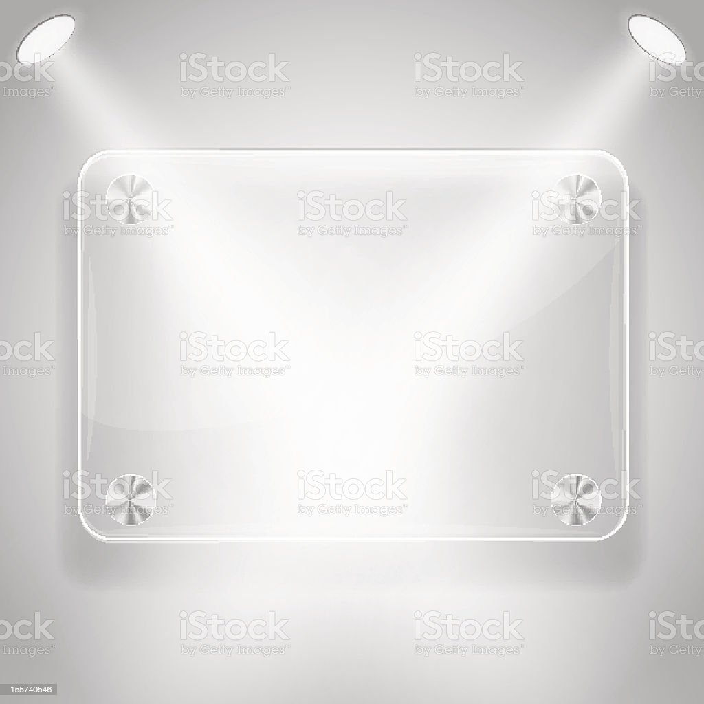 Glass frame with spotlights royalty-free glass frame with spotlights stock vector art & more images of abstract