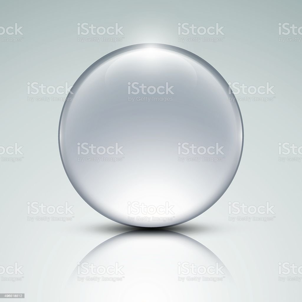 Glass globe vector art illustration