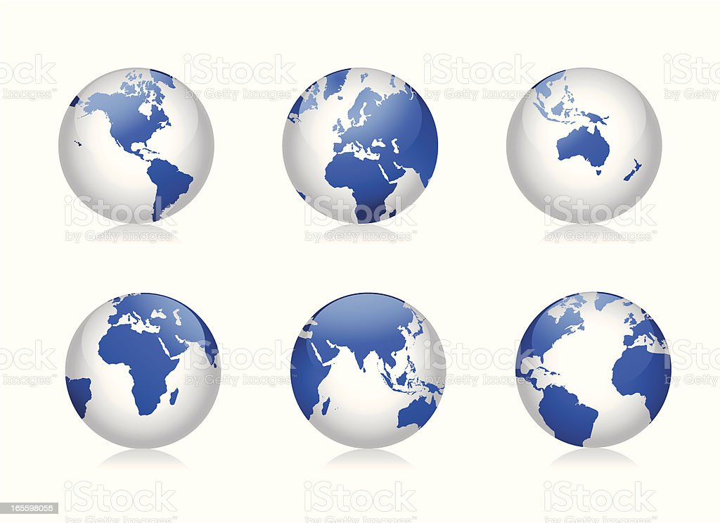 Glass Globes royalty-free glass globes stock vector art & more images of africa