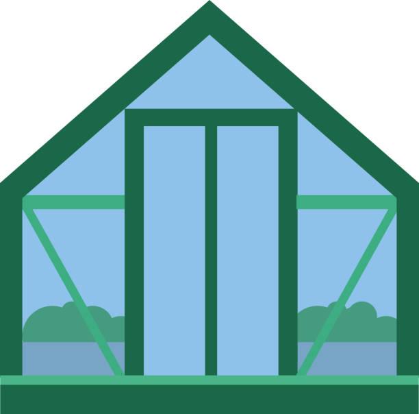 illustrations, cliparts, dessins animés et icônes de serre en verre avec l'agriculture biologique frais aliments jardin plantes potagères vector illustration - enluminure bordure