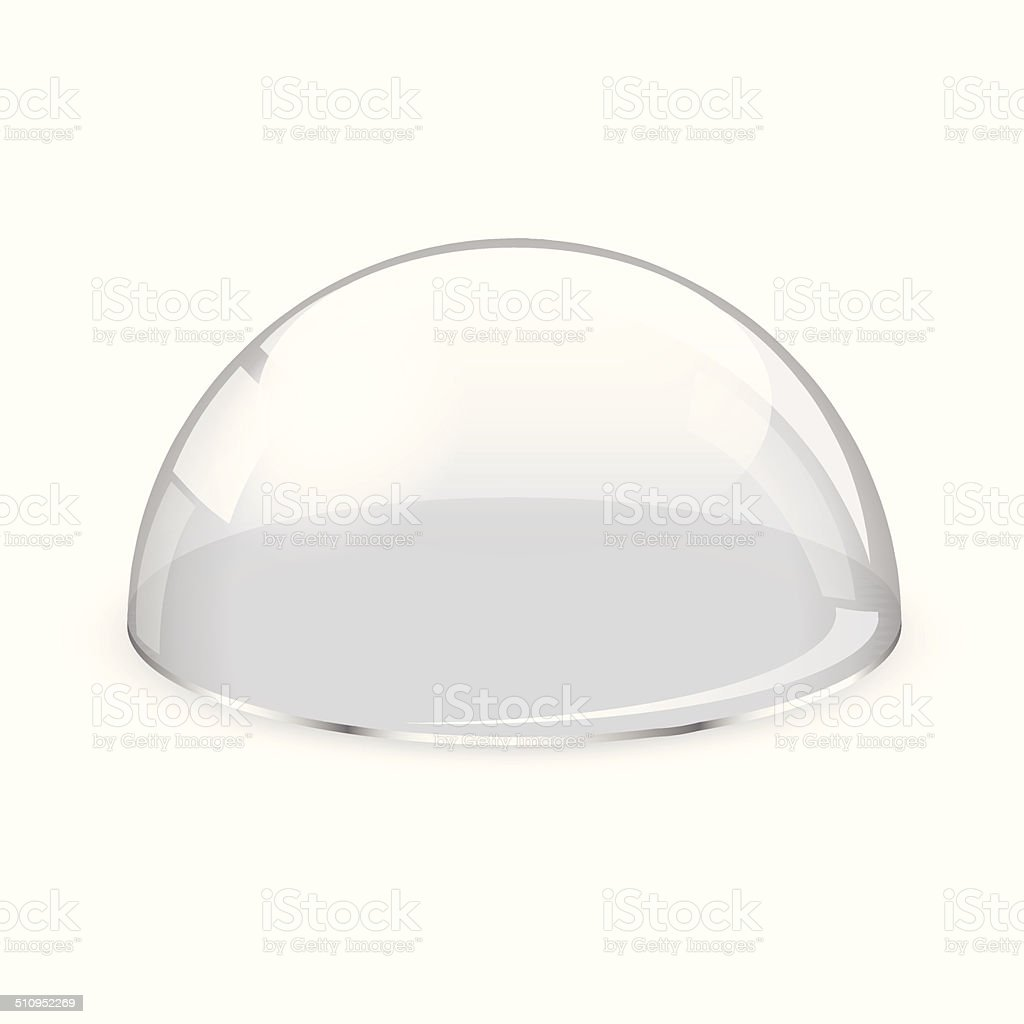 Glass half-sphere vector art illustration