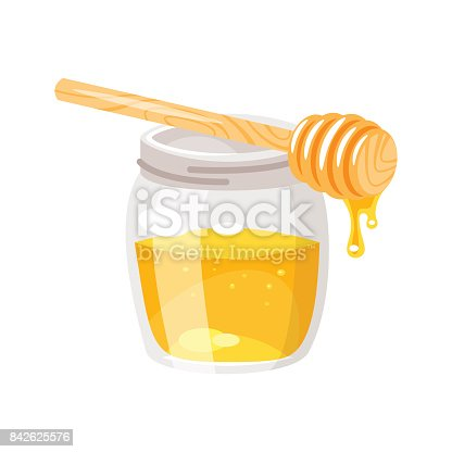 istock glass honey jar. 842625576