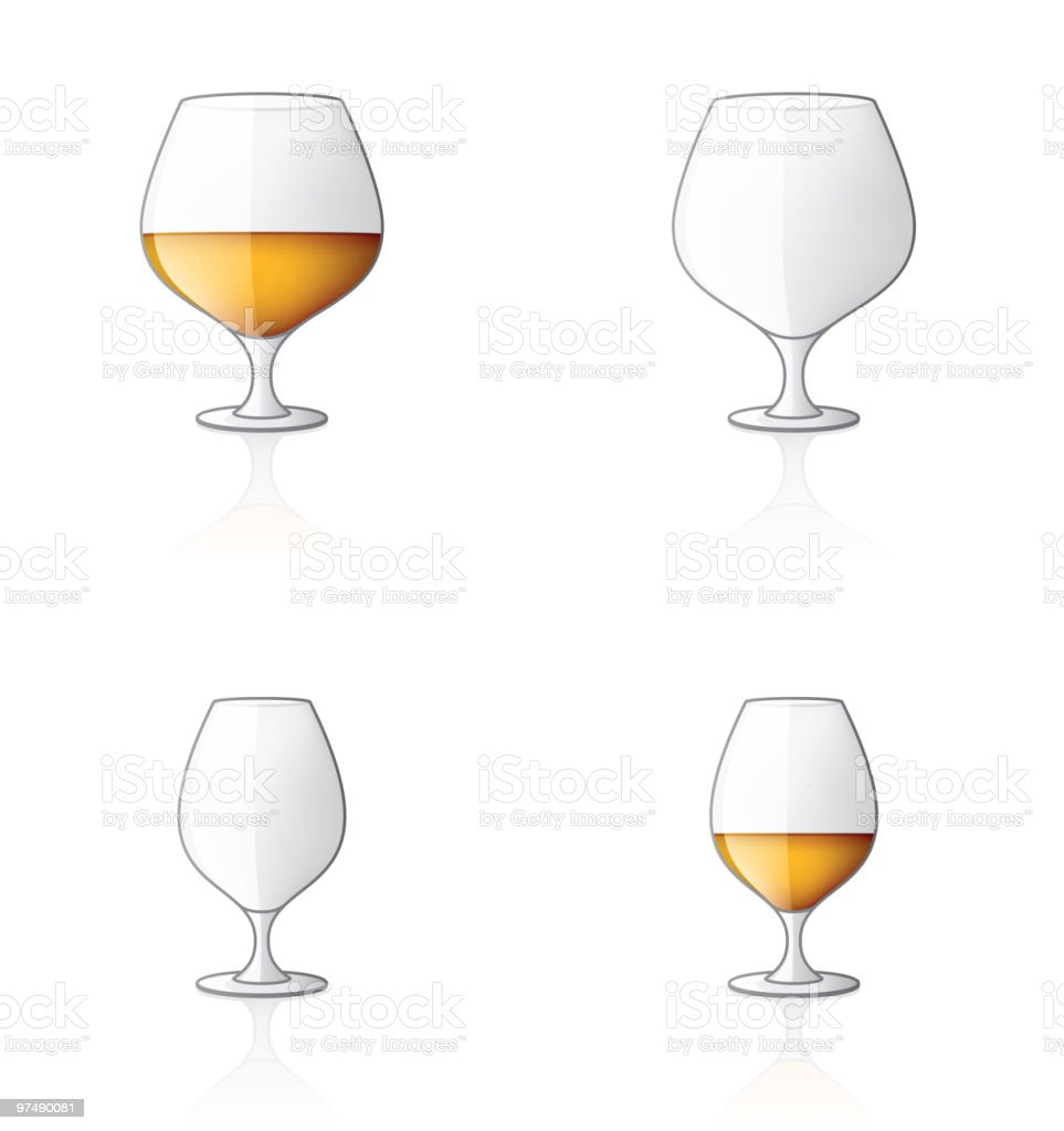 Glass Icon Set. Design Elements vector art illustration