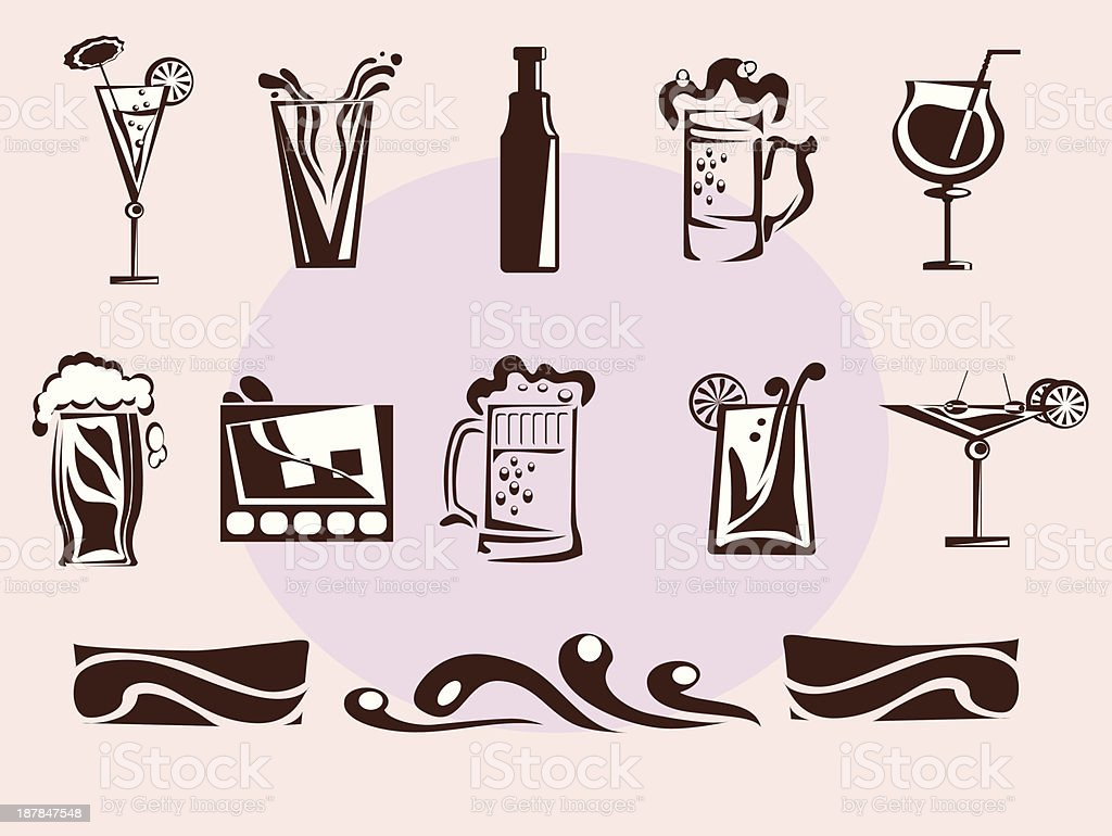 Glass icon royalty-free stock vector art