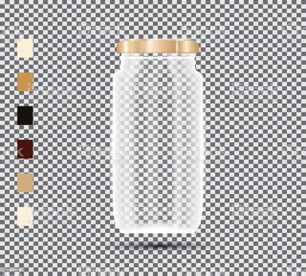 透明な背景にガラスの瓶ベクトルの図 のイラスト素材 701249160 | istock