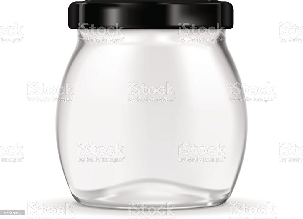 黒いラグ キャップ付きのガラス瓶 からっぽのベクターアート素材や画像