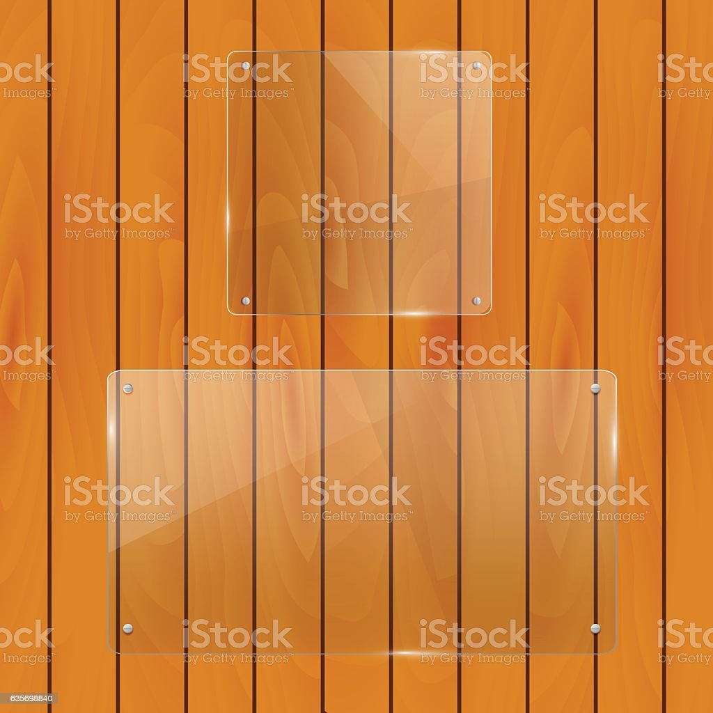 Glass Objects on a wood background royalty-free glass objects on a wood background stock vector art & more images of abstract