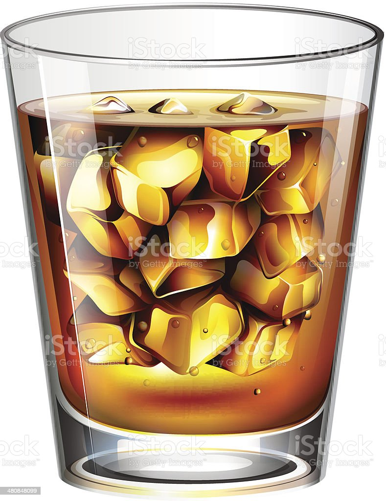 Glass of a distilled spirit drink royalty-free glass of a distilled spirit drink stock vector art & more images of alcohol abuse