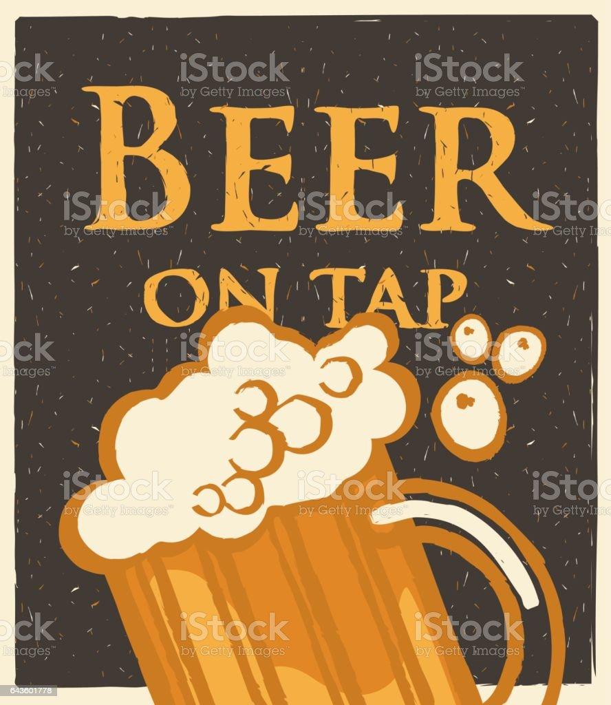 Glass of beer menu – Vektorgrafik