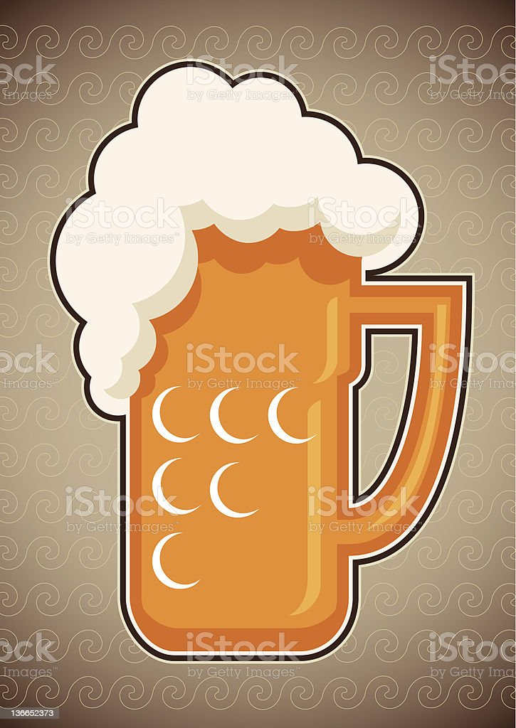 Glass of beer. royalty-free stock vector art