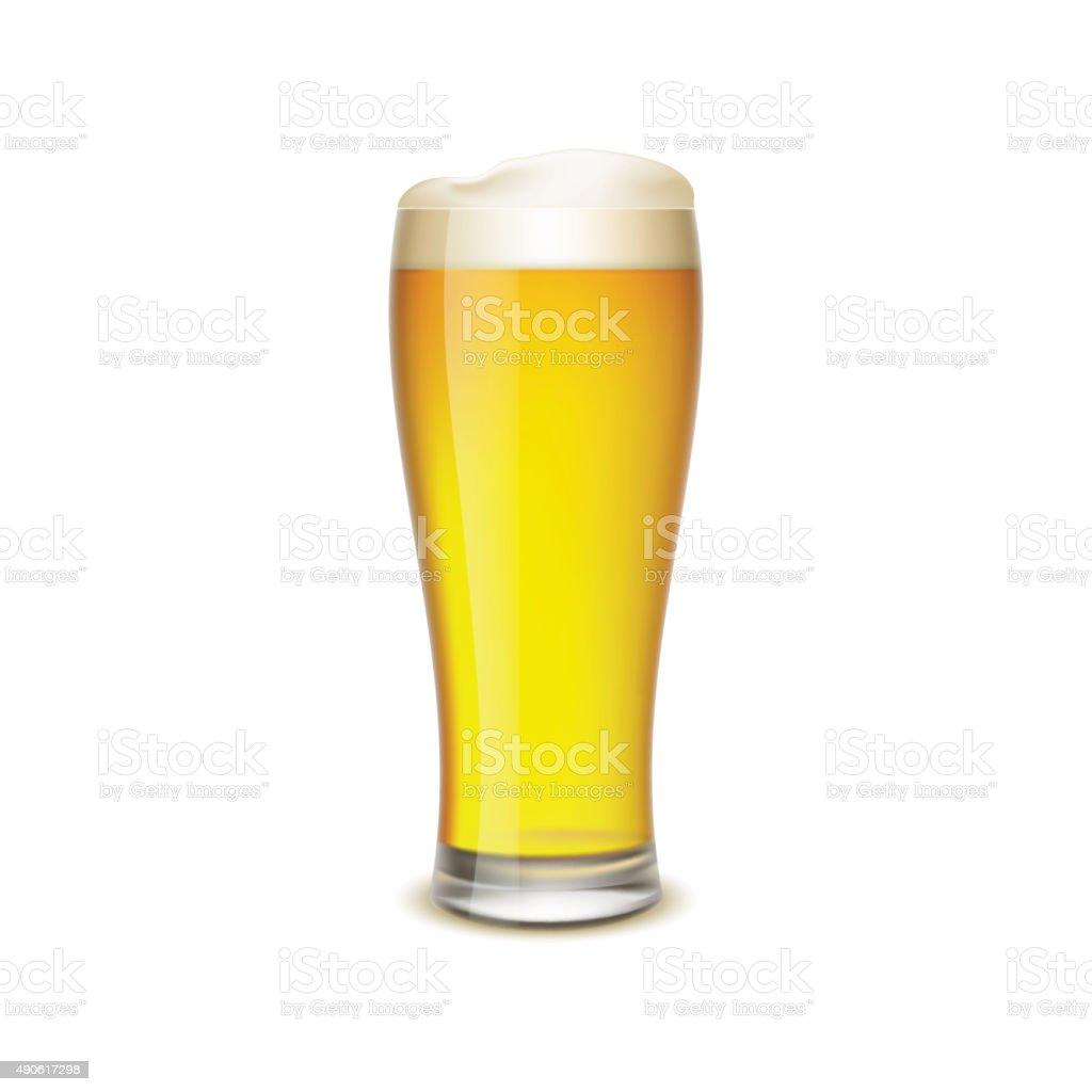 Glass of beer vector art illustration