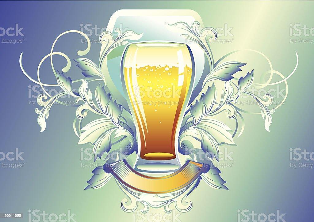 Glas Bier - Lizenzfrei Alkoholisches Getränk Vektorgrafik