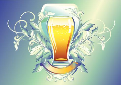 Glass Of Beer Stockvectorkunst en meer beelden van Achtergrond - Thema