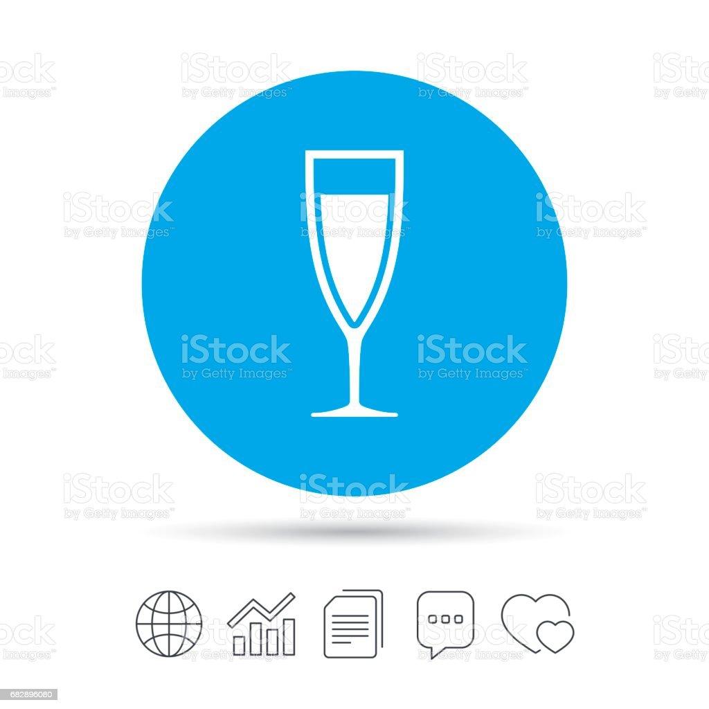 Glas Champagner-Symbol. Alkohol trinken. Lizenzfreies glas champagnersymbol alkohol trinken stock vektor art und mehr bilder von abzeichen