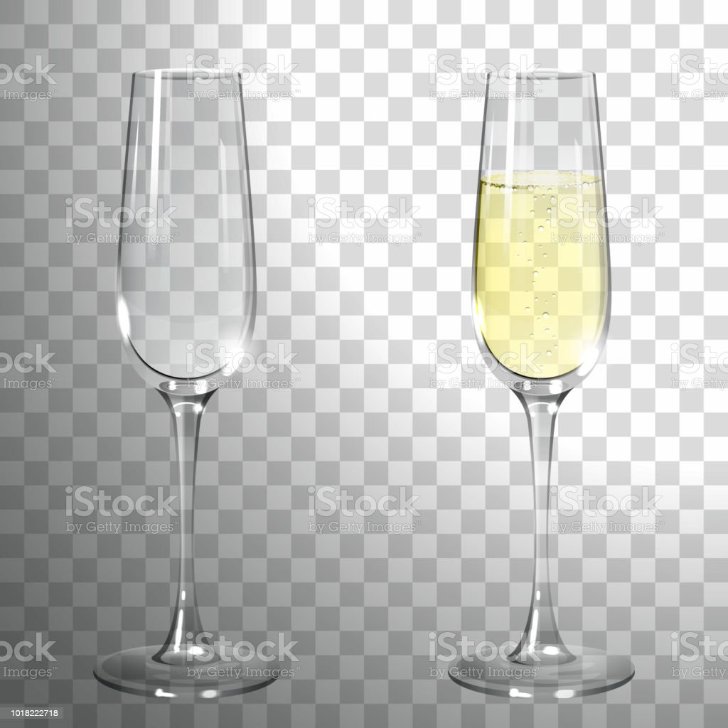 Ein Glas Champagner - Lizenzfrei Abstrakt Vektorgrafik