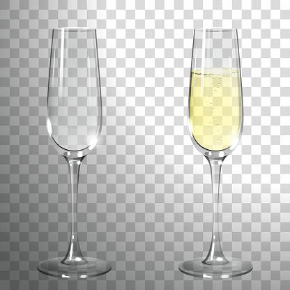 Ein Glas Champagner Stock Vektor Art und mehr Bilder von Abstrakt
