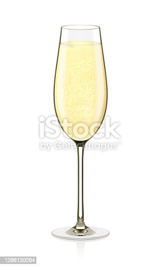 istock Glass of Champagne Vector illustration 1266130264