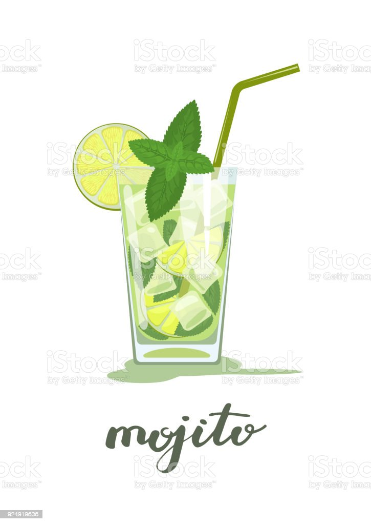 Ilustraci n de vaso de mojito cocktail y m s banco de for Vaso cocktail