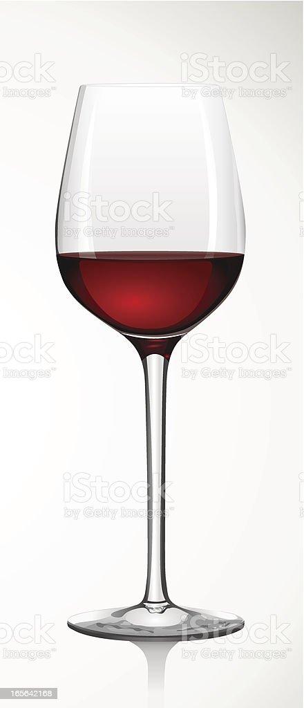 glass of red wine - Rotweinglas vector art illustration