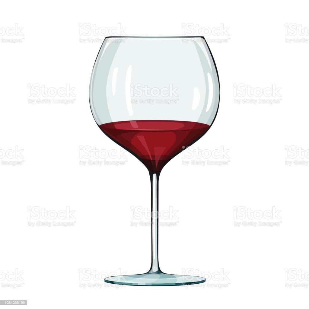 Verre De Vin Rouge Illustration Vectorielle Sur Blanc Vecteurs libres de droits et plus d'images vectorielles de Alcool