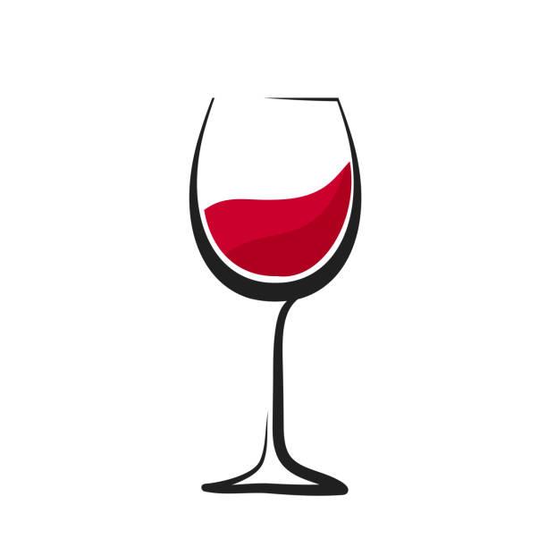 スプラッシュ、手描き、ワイングラスのアイコン、株式ベクトルのロゴ イラストと赤ワインのガラス - ワイングラス点のイラスト素材/クリップアート素材/マンガ素材/アイコン素材