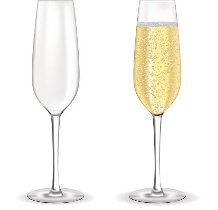 Glas Sekt Champagner Mit Bläschen Stock Vektor Art und mehr Bilder von Alkoholisches Getränk