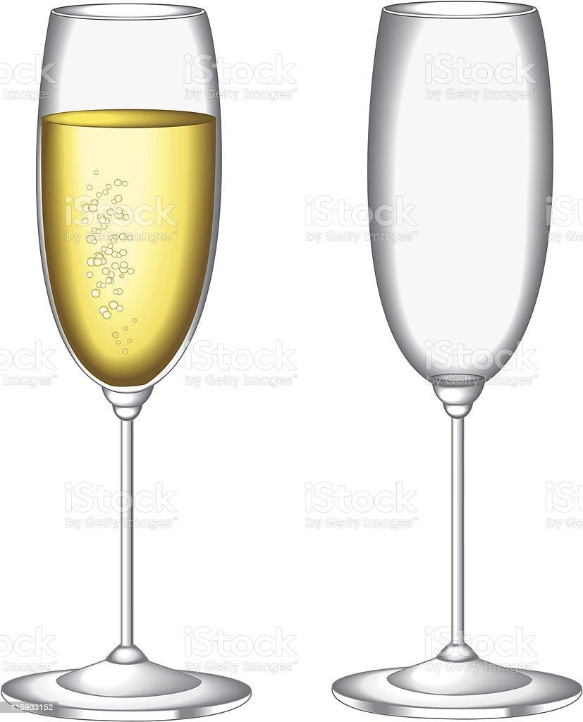 Glas Sekt Stock Vektor Art und mehr Bilder von Alkoholisches Getränk ...