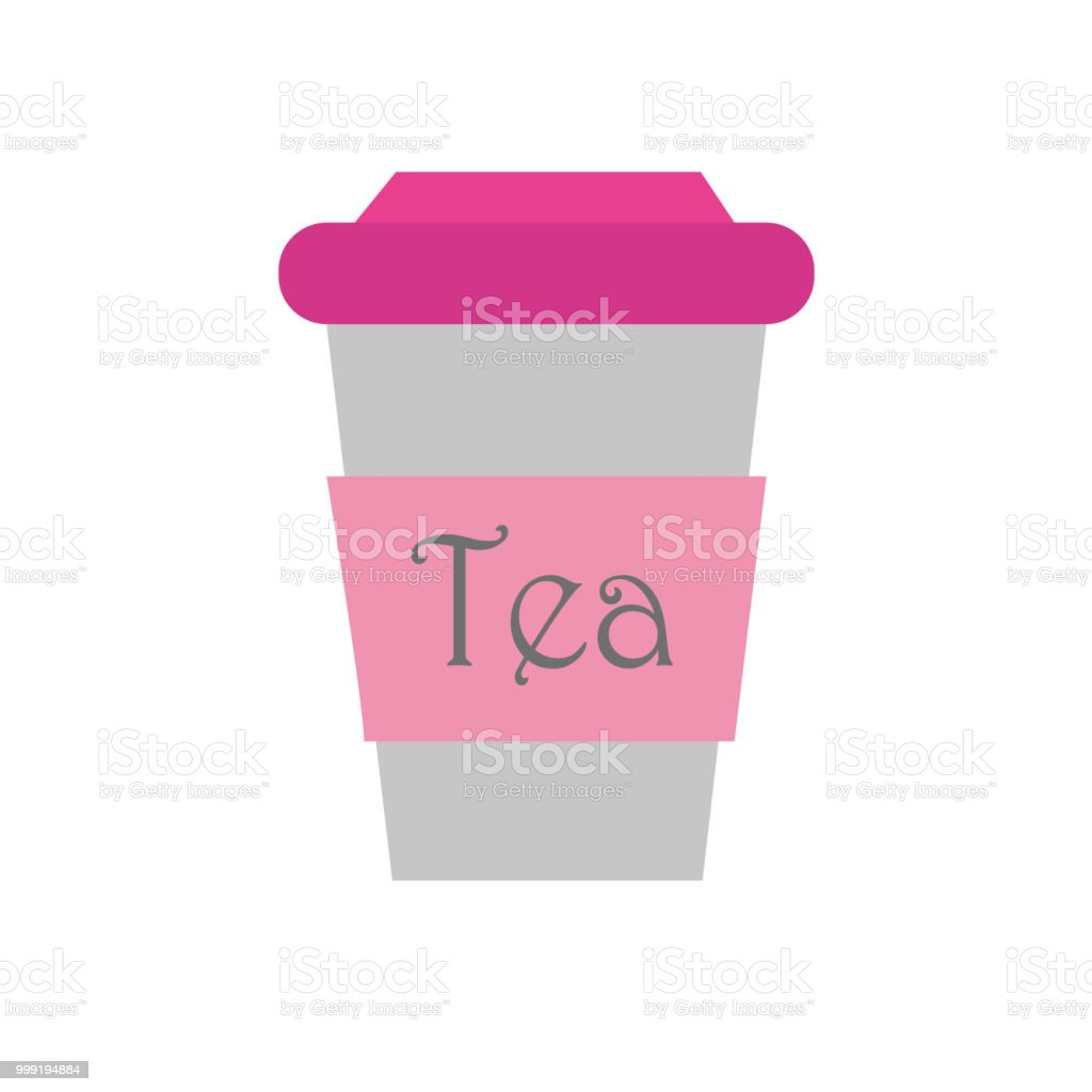 A glass of tea. Vector vector art illustration