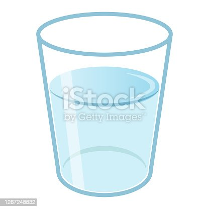 istock A glass of water. A simple image illustration 1267248832