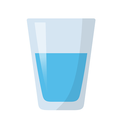 glass of water flat design