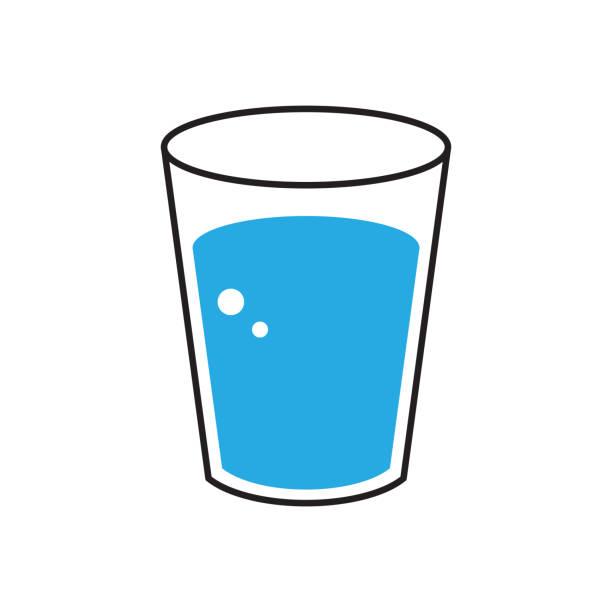 bildbanksillustrationer, clip art samt tecknat material och ikoner med glas vatten ikon vektor - glas