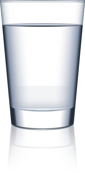 Royalty free glass of water clip art vector images for Water glass images