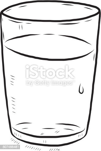 Glass Of Water Stock Vector Art & More Images of Art