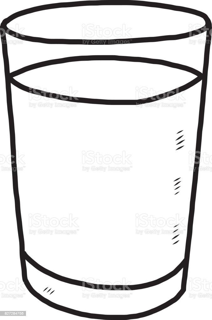 Glass wet black and white art clip art vector images illustrations
