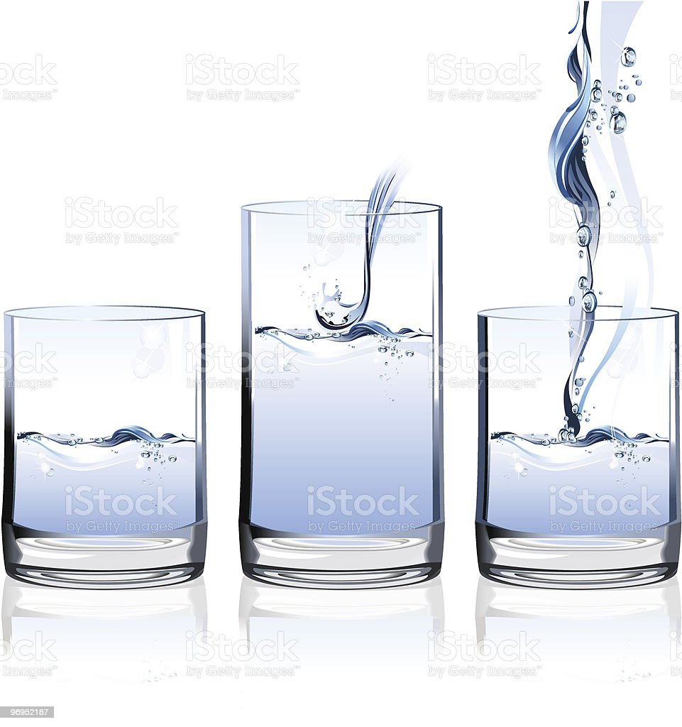 Glass of Water royalty-free glass of water stock vector art & more images of blue