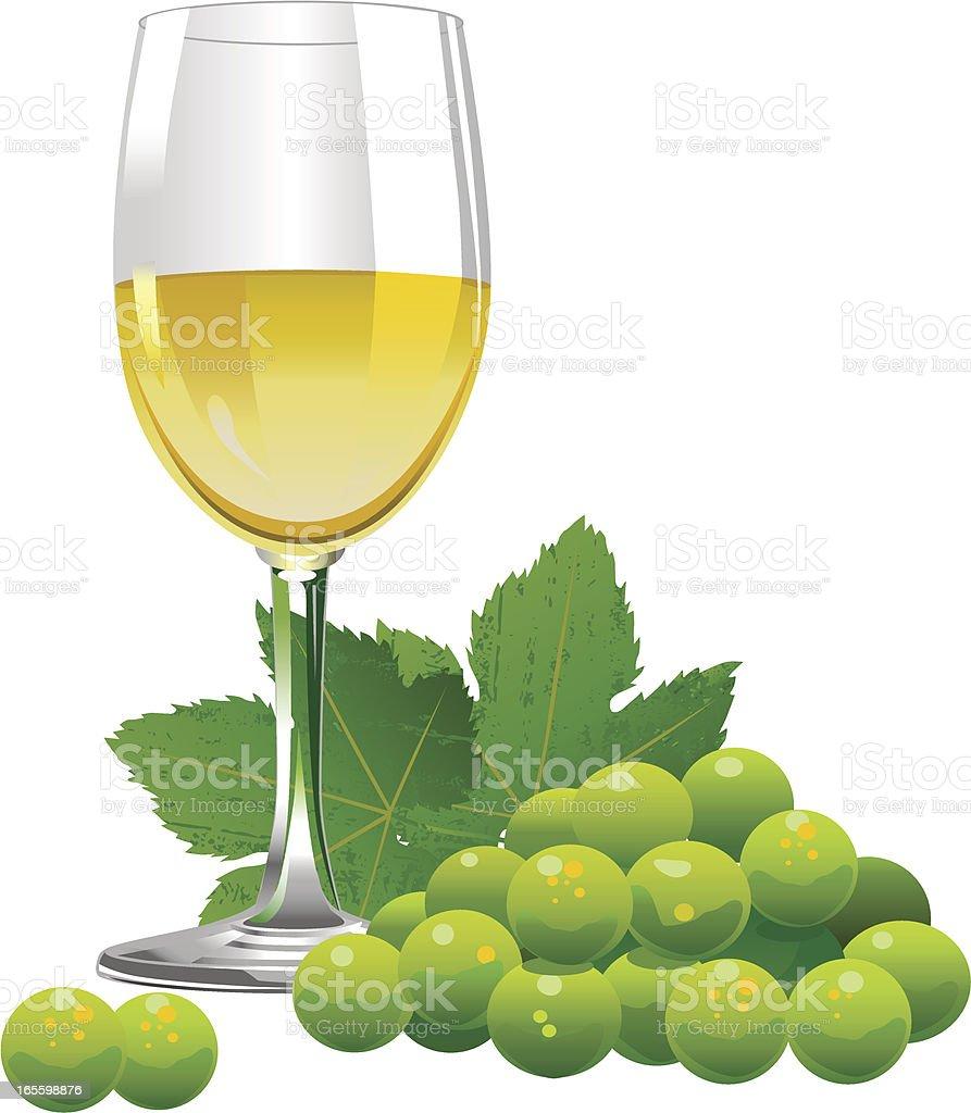 Copa de vino blanco ilustración de copa de vino blanco y más banco de imágenes de alcohol libre de derechos