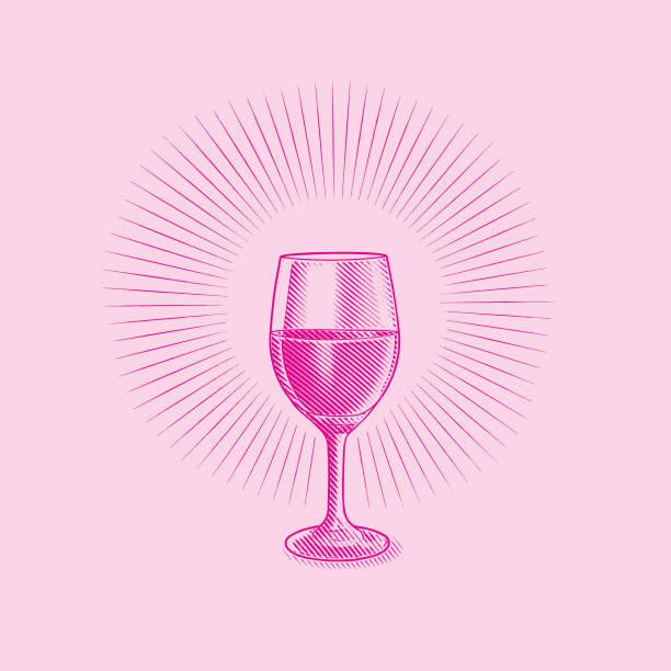 bildbanksillustrationer, clip art samt tecknat material och ikoner med glas vin - vitt vin glas