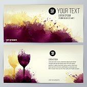 Invitation template for event or party. Suitable for tasting events or wine presentation. Artistic design background with stains.Invitation template for event or party. Suitable for tasting events or wine presentation. Artistic design background with stains.