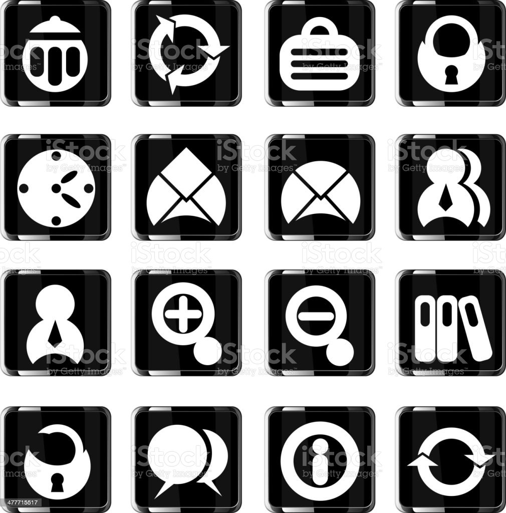 glass office icons set royalty-free glass office icons set stock vector art & more images of bag